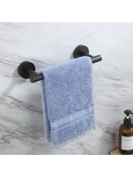 9 Inches Hand Towel Bar & Kitchen Dish Cloths Hanger, Wall Mount, No Drill, Matte Black A2000S23DG-BK