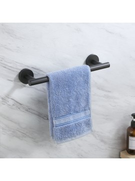 12 Inches Matte Black Hand Towel Bar Bathroom Towel Holder Kitchen Dish Cloths Hanger SUS304 Stainless Steel RUSTPROOF Wall Mount No Drill, A2000S30DG-BK