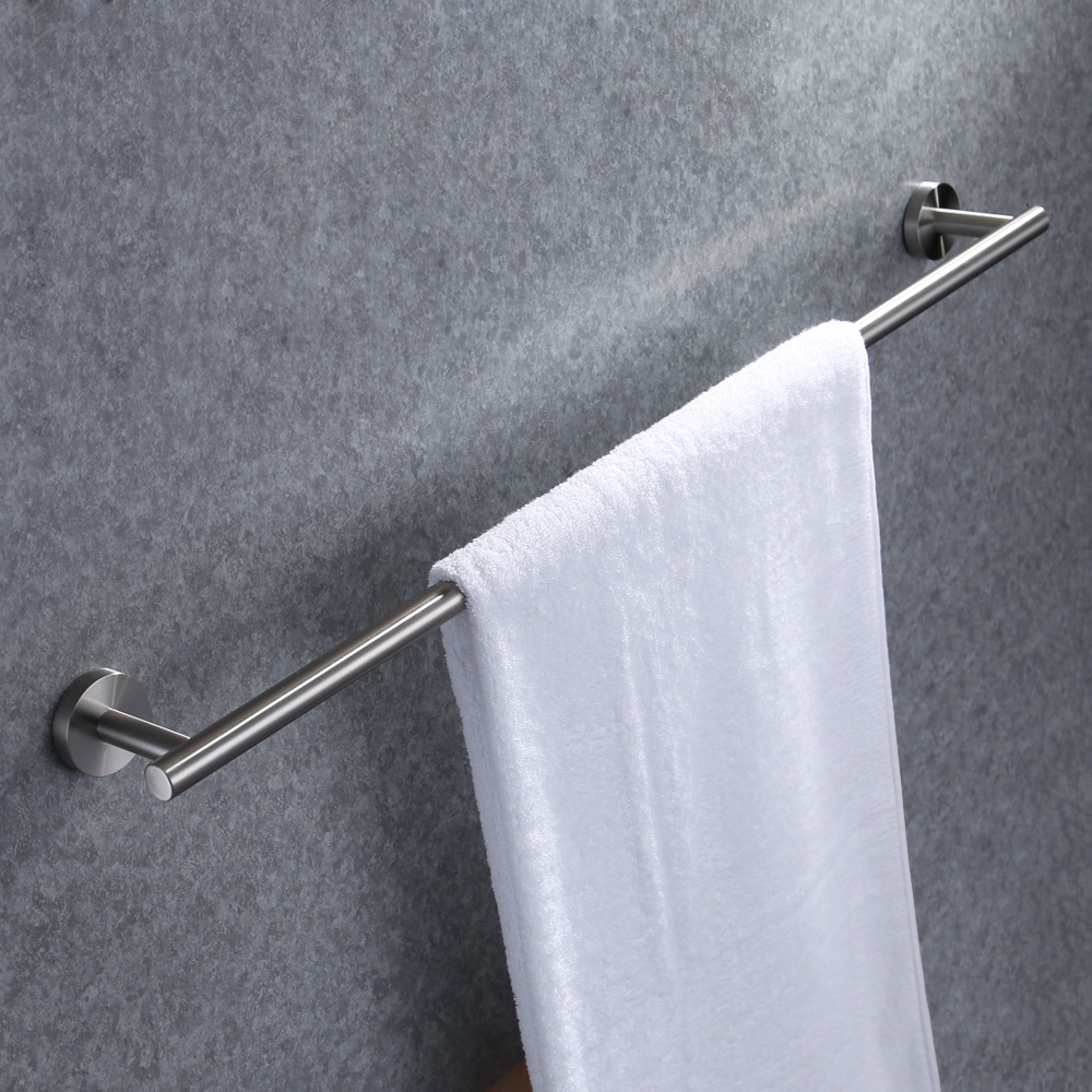 kes 30 inch towel bar bathroom shower organization bath single towel hanger holder brushed sus. Black Bedroom Furniture Sets. Home Design Ideas
