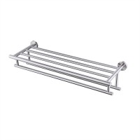 KES Large Towel Rack, Towel Shelf with Two Bar (24 Inch Stainless Steel) Shower Organizer Modern Style Wall Mount Brushed Finish, A2011S60-2