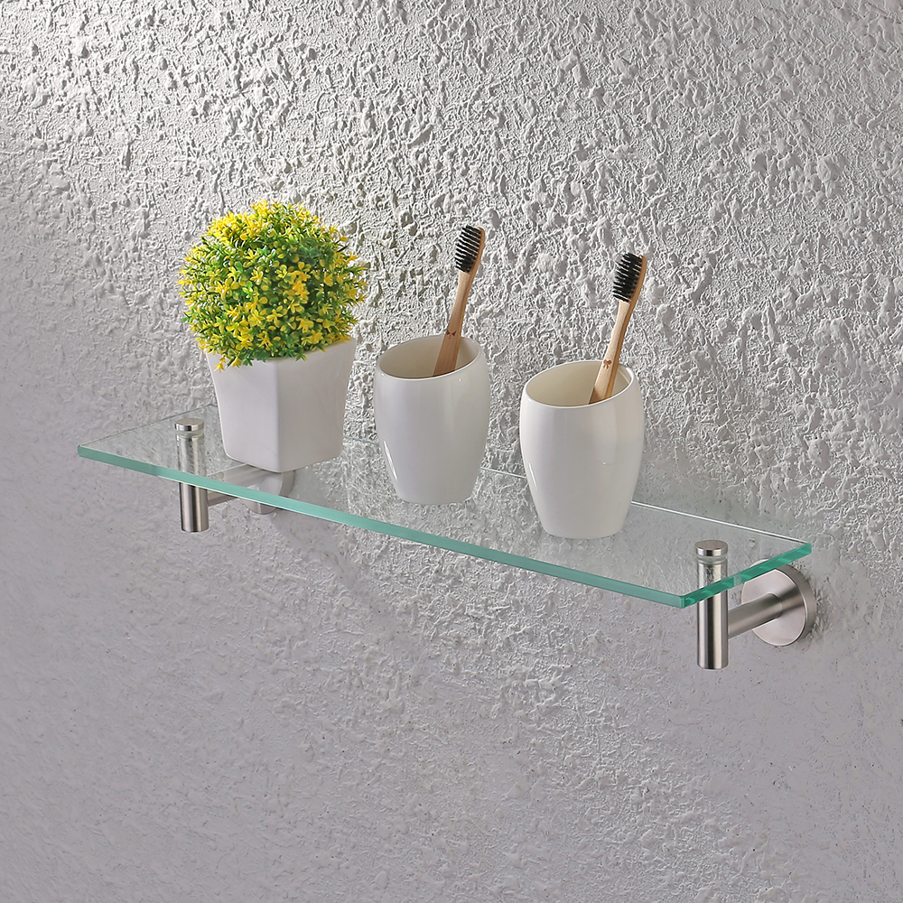 KES 20-Inch Glass Shelf Bathroom Storage Organizer Shelf with 8 MM ...