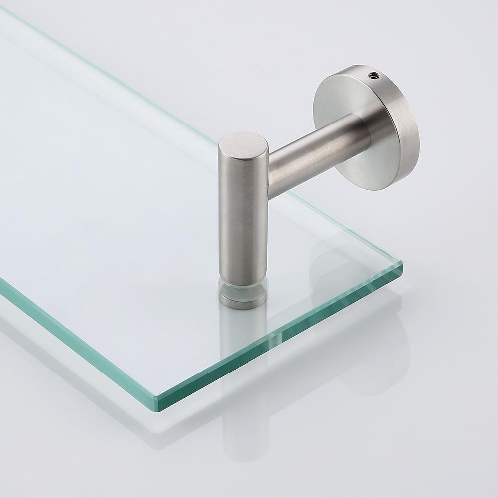 KES 20-Inch Glass Shelf Bathroom Storage Organizer Shelf with 8 MM ...