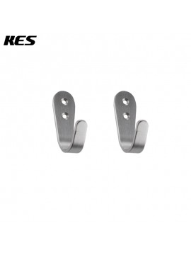KES Brushed Stainless Steel Coat and Hat Single Hook Heavy Duty Wall Mount, 2-Pcs Value Pack ,A2062-P2