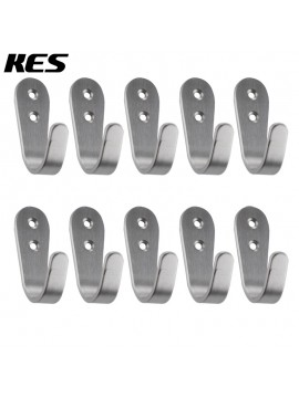 KES SUS 304 Stainless Steel Garage Storage Organizer Hook Bathroom Toilet Single Robe Towel Coat Hook Rustproof Kitchen Utensil Utility Hanger SOLID Metal Heavy Duty Wall Mount, Brushed Finish Multiple 10 Pack, A2062-P10