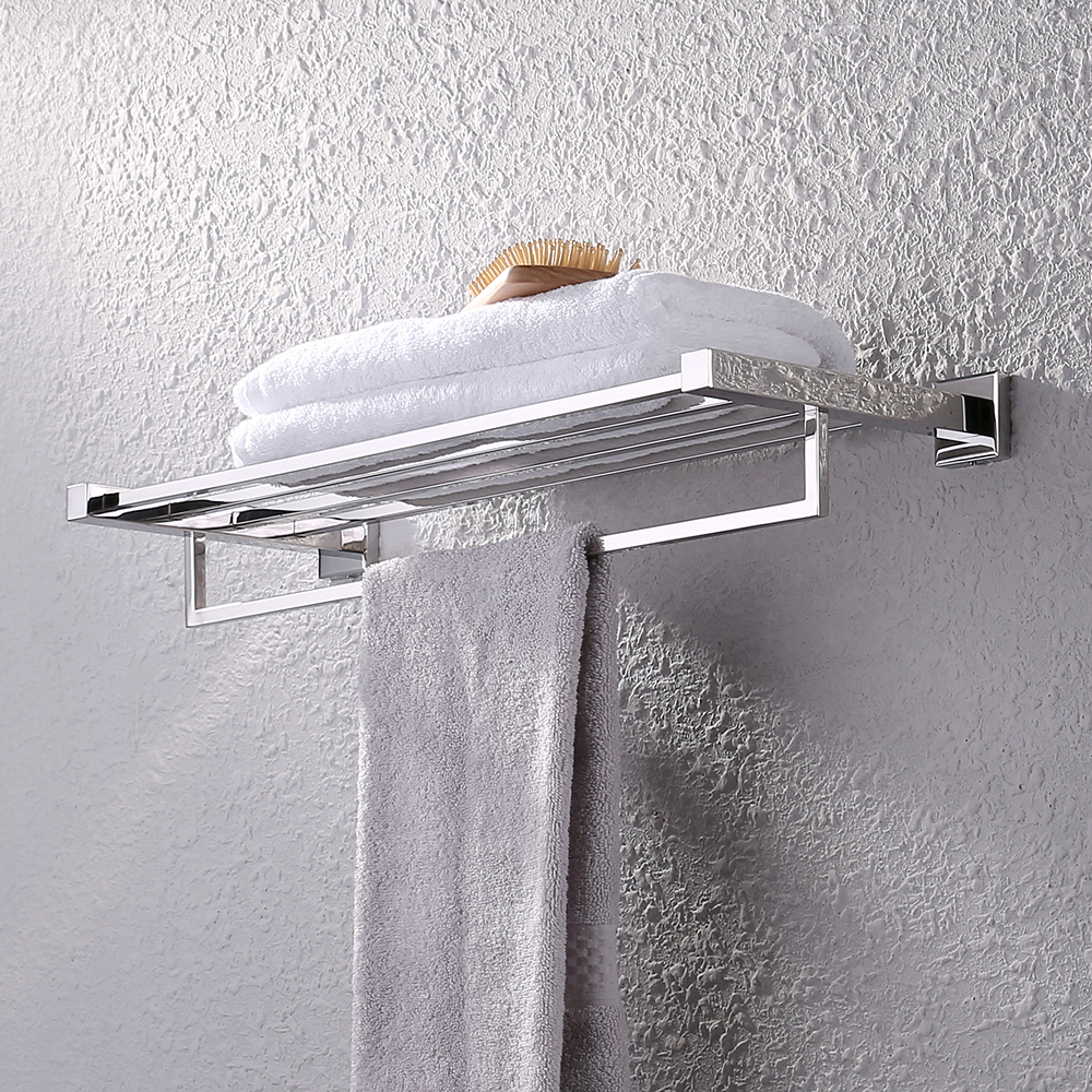 KES Bath Towel Shelf, with Towel Bar Rustproof Stainless Steel 24 ...