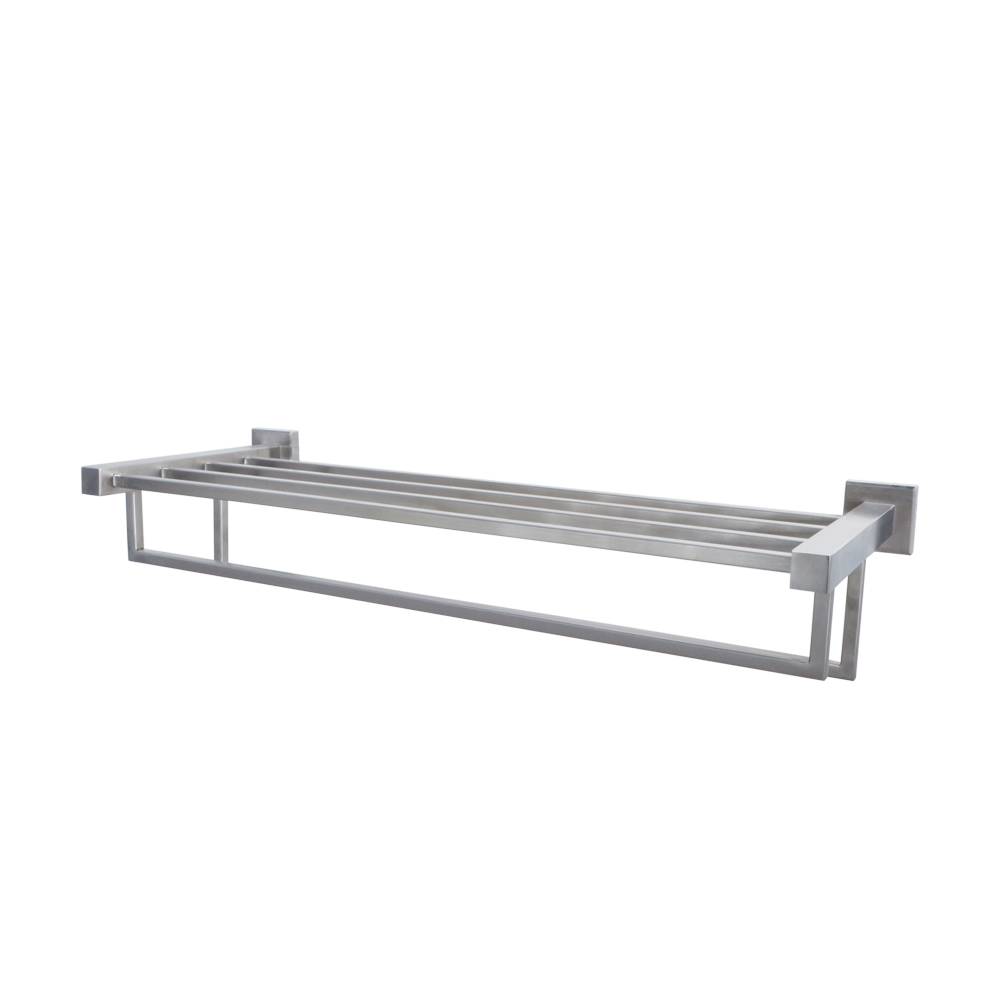 Kes 24 Inch Towel Rack With Shelf Stainless Steel Double