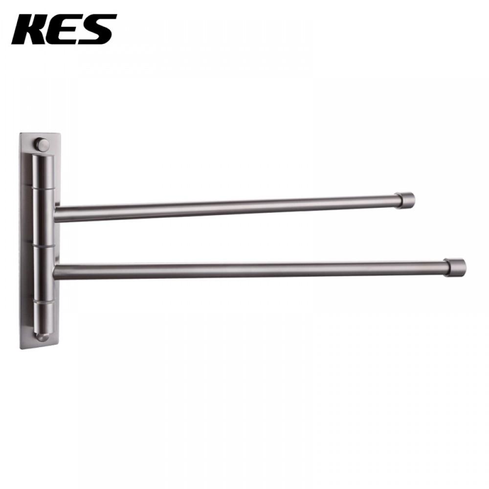 Kes Bathroom Swing Arm Towel Bars 2 Arm Wall Mount Swing Out Towel