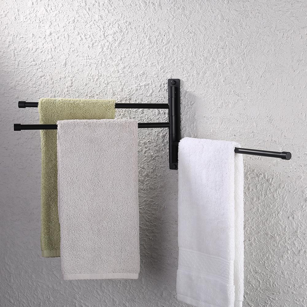 Kes Bathroom Swing Arm Towel Bars 3 Arm Wall Mount Swing