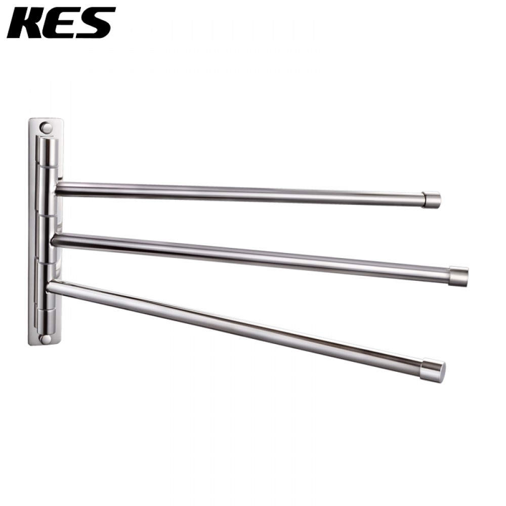 Kes Bathroom Swing Arm Towel Bars 3 Wall Mount Out Shelf Brushed Sus304