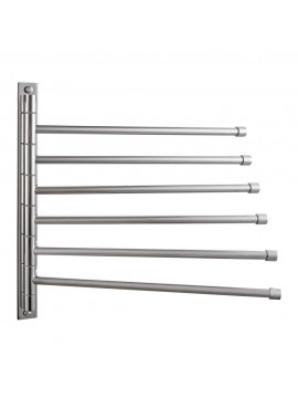 KES SUS 304 Stainless Steel Swing Out Towel Bar 6-Bar Folding Arm Swivel Hanger Bathroom Storage Organizer Rustproof Wall Mount, Polished Finish, A2102S6/A2102S6-2/A2102S6-BK