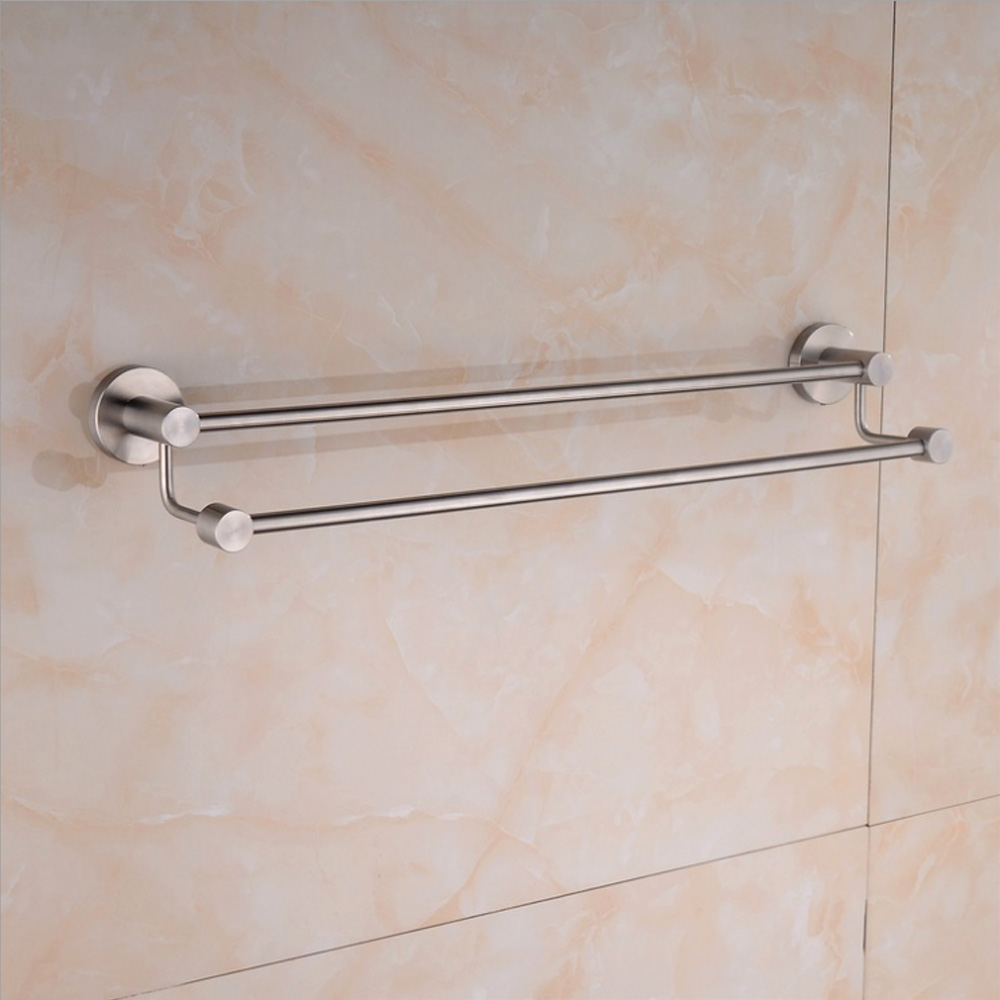 Kes A2103 2 Bathroom Lavatory Double Towel Bar Wall Mount Brushed Sus304 Stainless Steel