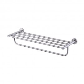 KES Bathroom Double Towel Rack and Shelf 23 Inch Wall Mounted, Brushed Finish SUS304 Stainless Steel, A2110-2