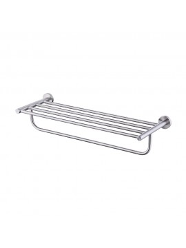 KES Bathroom Double Towel Rack and Shelf 23 Inch Wall Mounted, SUS304 Stainless Steel, Brushed/Polished Finish A2110S60, A2110S60-2