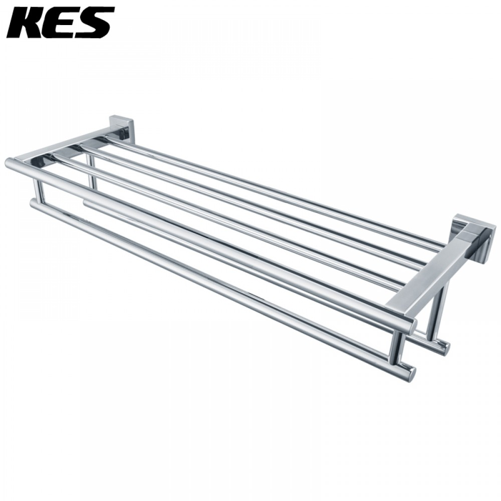 towel rack - kes a sus  square style stainless steel shelves towel rack withdouble storage hanging organizer