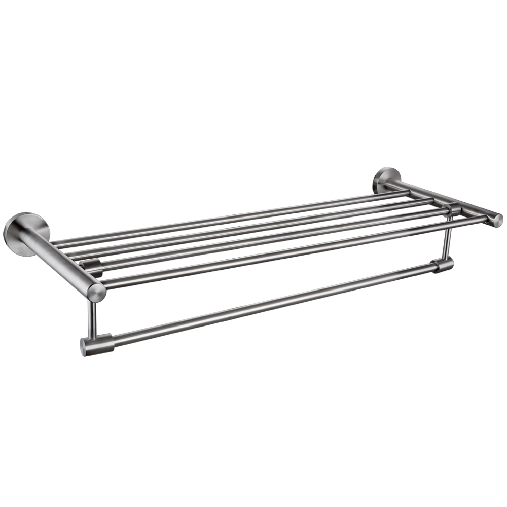 KES SUS 304 Bathroom Shelves Towel Rack with FoldingSwivel Towel