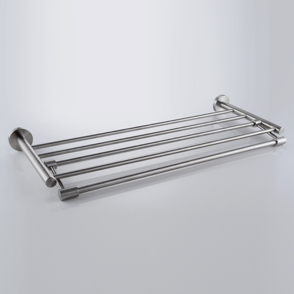 Kes Sus 304 Bathroom Shelves Towel Rack With Folding