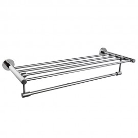 KES A2115 Bathroom Minimalist Towel Rack Shelf with Foldable Towel Bars Wall Mounted, Polished SUS304 Stainless Steel