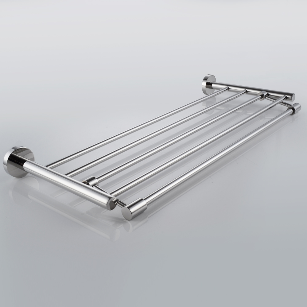 A2115 Bathroom Minimalist Towel Rack Shelf with Foldable Towel ...