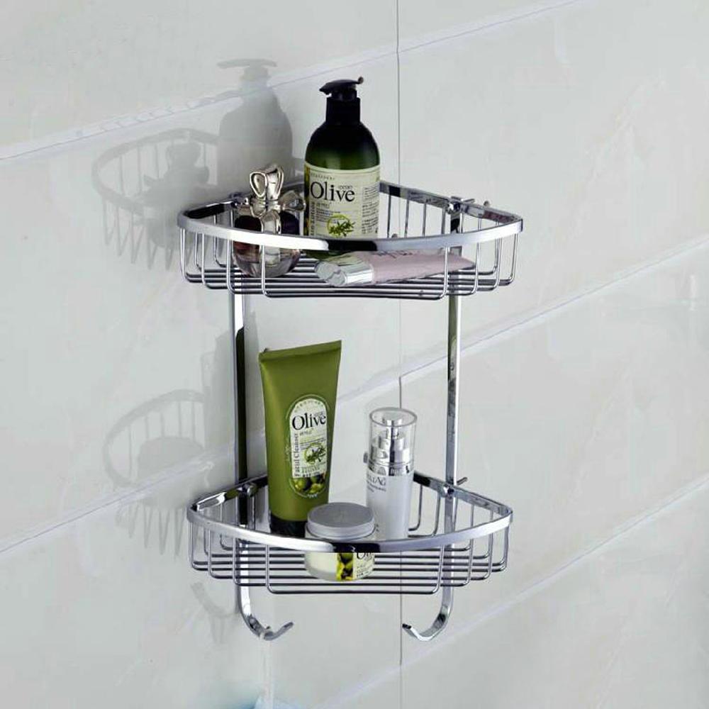 KES Bathroom Triangular Tub and Shower Caddy 2-Tier Wall Mount ...
