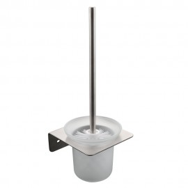 KES Toilet Brush with Holder Set Wall Mount SUS304 Stainless Steel Holder, Brushed Finish, A21430-2
