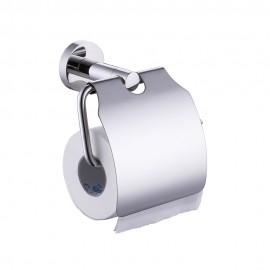 KES A2170 Stainless Steel Toilet Paper Holder Single Roll with Cover, Polished SUS304 Stainless Steel