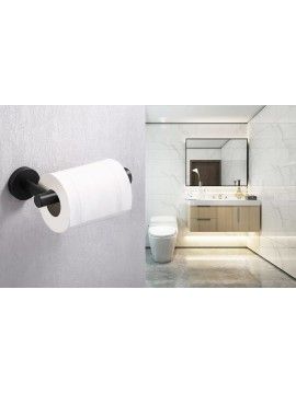 Bathroom Wall Mounted Toilet Paper Holder, Matt Black A2175S12-BK