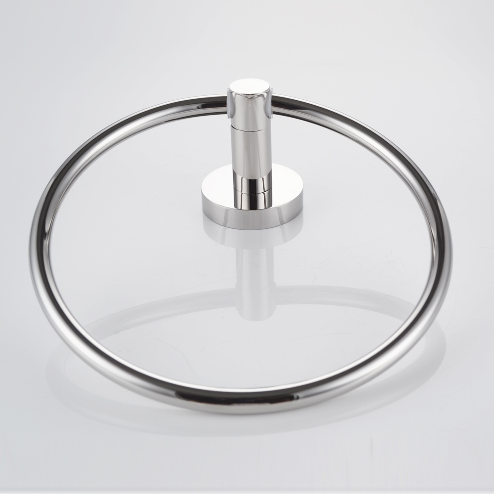 Kes A2180 2 Bathroom Lavatory Towel Ring Wall Mount Brushed Stainless Steel