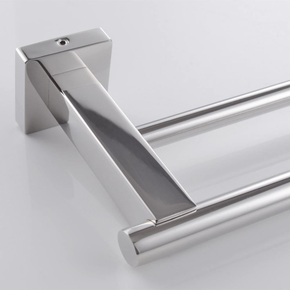 Kes A2201 Bathroom Lavatory Double Towel Bar Wall Mount Polished Stainless Steel
