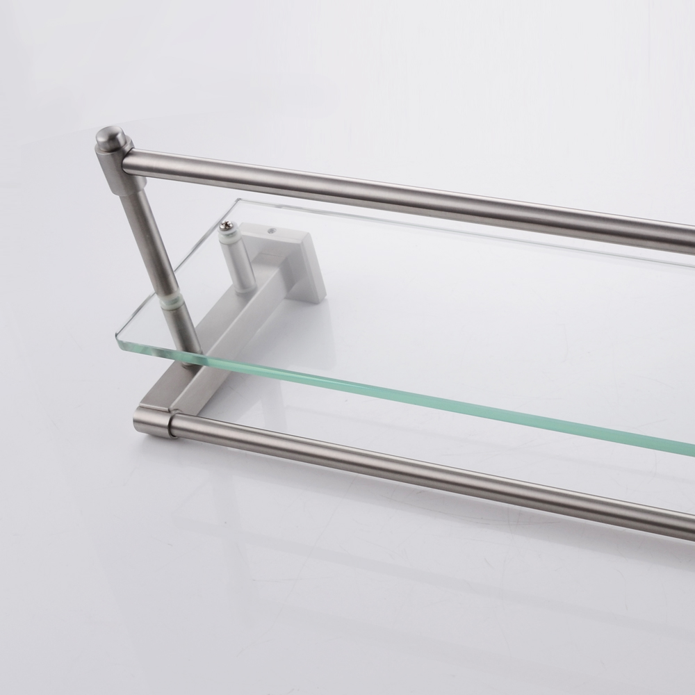 Kes A2225 2 Sus304 Stainless Steel Bathroom Glass Shelf