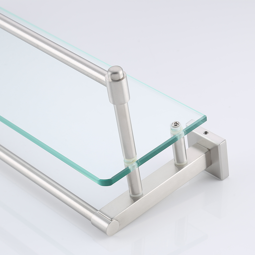 KES A2225-2 SUS304 Stainless Steel Bathroom Glass Shelf Wall Mount ...