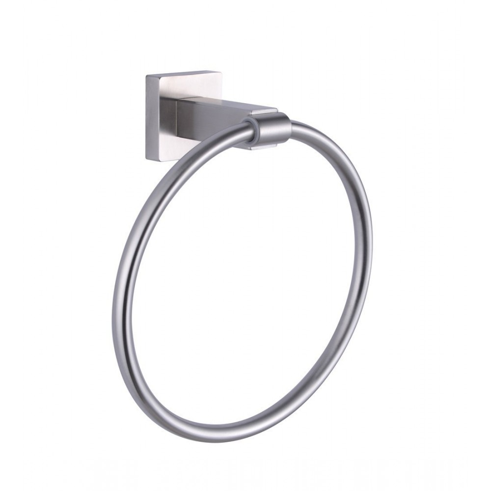 Kes A2280 2 Bathroom Lavatory Towel Ring Wall Mount Brushed Stainless Steel