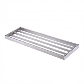 ES Bathroom Single Shelf Towel Rack Wall Mount, Brushed SUS304 Stainless Steel, A23010-2