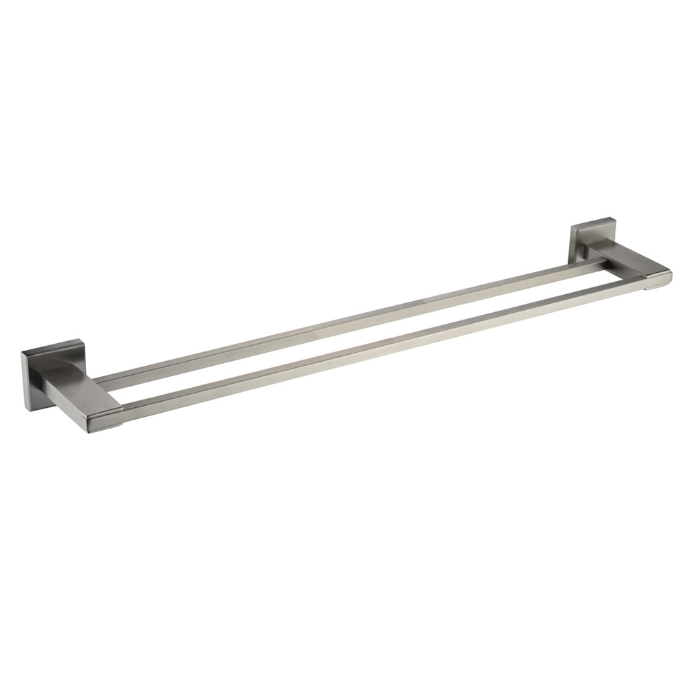 kes bathroom double towel bar wall mount brushed finish sus304 stainless steel a24012