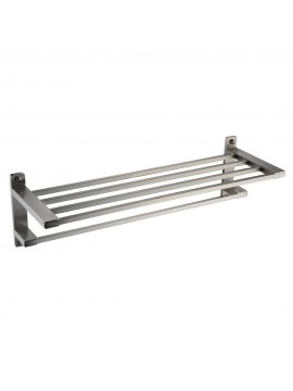 Kes Towel Bar Towel Holder With Double Square 23 Inch Brushed Sus