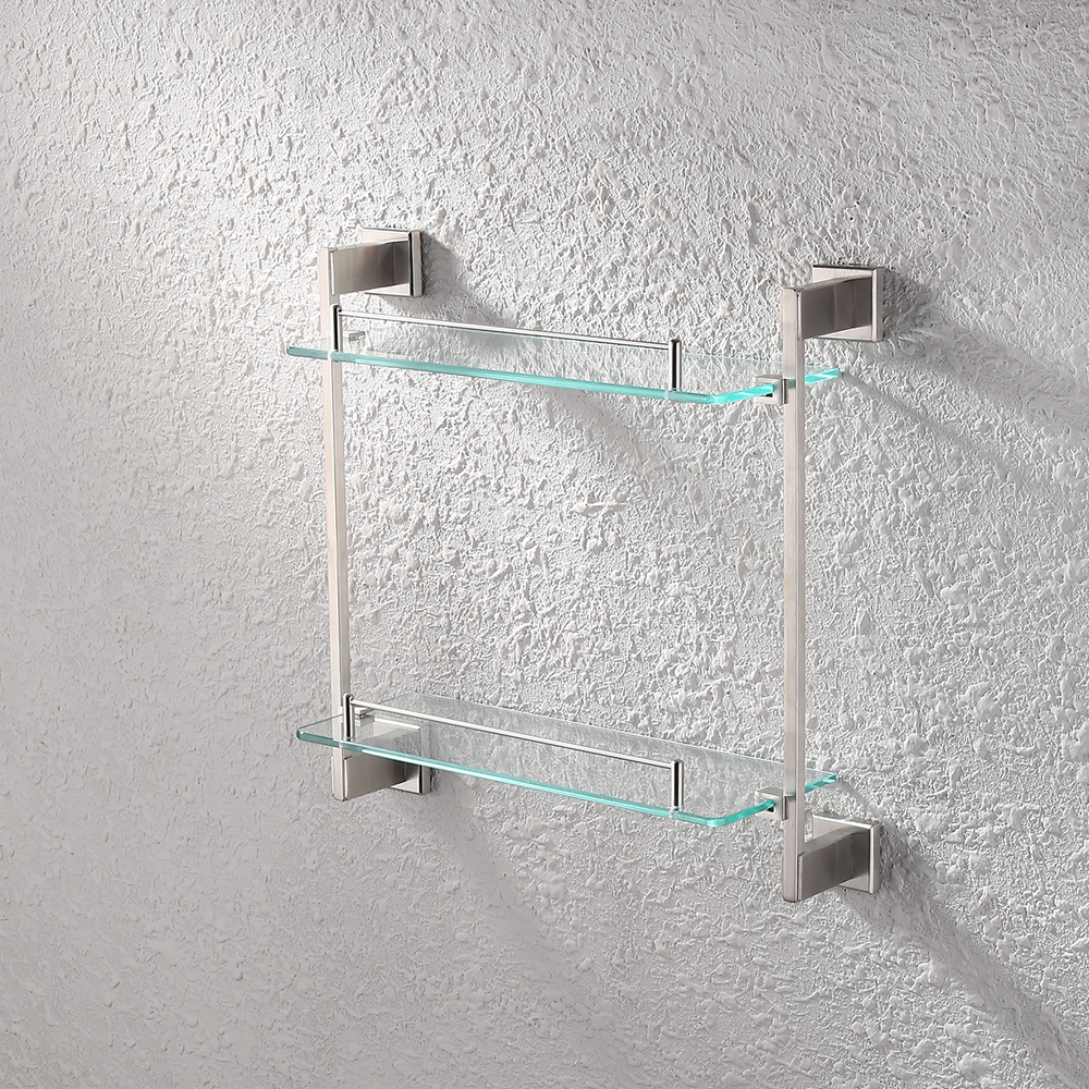 KES Bathroom Glass Shelf 2 Tier Shower Caddy Bath Basket Stainless Steel  RUSTPROOF Wall Mount Brushed ...