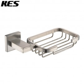 KES A2440-2 Bathroom Toilet Soap Basket/Holder Wall Mount, Brushed SUS304 Stainless Steel