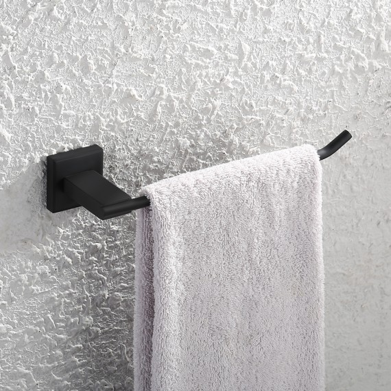 KES Bathroom Lavatory Towel Holder Towel Ring SUS304 Stainless Steel Wall Mount, Brushed/Matte Black A2481-2/A2481-BK