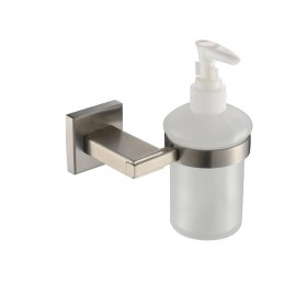 KES Bathroom Lavatory Soap Lotion Dispenser Pump Wall Mount with SUS304 Stainless Steel Post, Brushed Finish, A2490-2