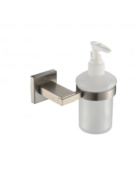 kes bathroom lavatory soap lotion dispenser pump wall mount with sus304 stainless steel post brushed