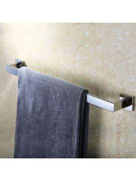 KES SUS304 Stainless Steel Single Towel Bar Wall Mount, Polished Finish, A2500