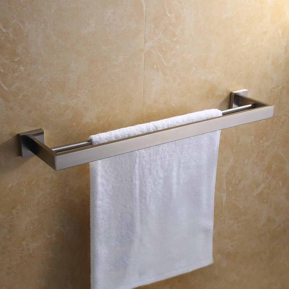 Kes A2501 Bathroom Lavatory Double Towel Bar Wall Mount Polished Stainless Steel
