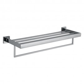 KES A2510 Bathroom Lavatory Double Bathroom Shelf Towel Rack Wall Mount, Polished Stainless Steel