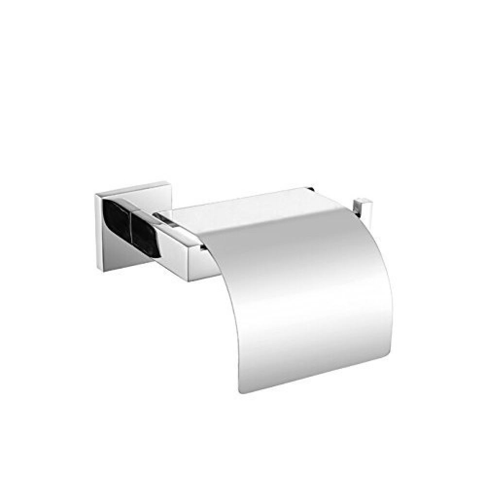 Stainless Steel Toilet Roll Holder Part - 27: KES SUS304 Stainless Steel Toilet Paper Roll Holder With Cover Wall Mount  Polished Finish, A2571