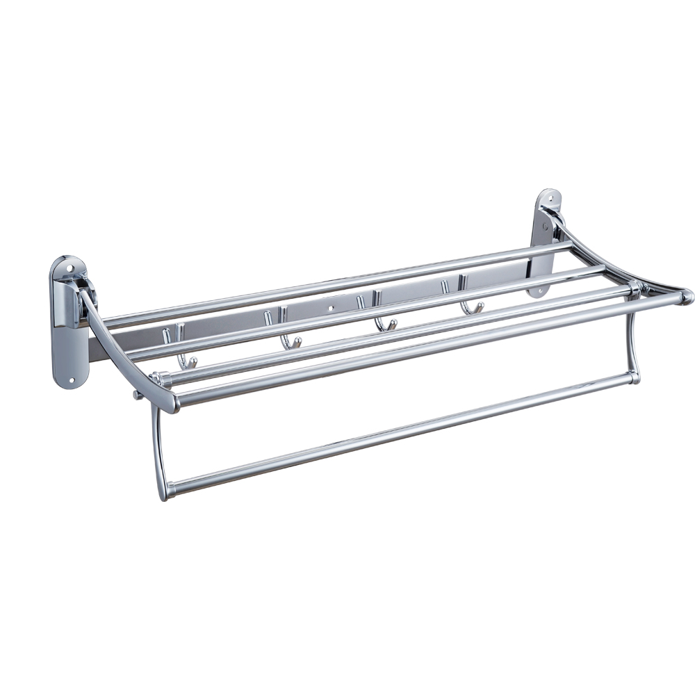 KES A3010 Towel Rack with Foldable Towel Bar 24 Inch, Polish Chrome