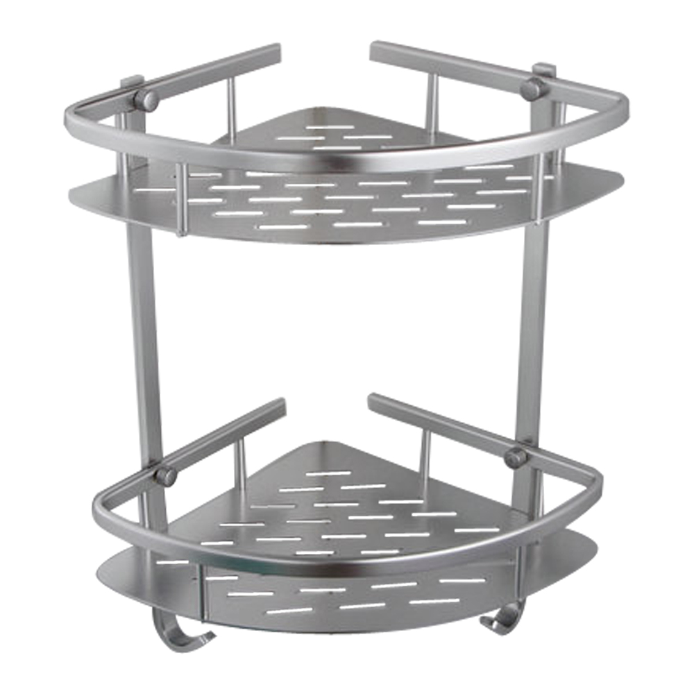KES A4022B Tub And Shower Large Corner Basket Two Tier With Hook Wall  Mount, Aluminum