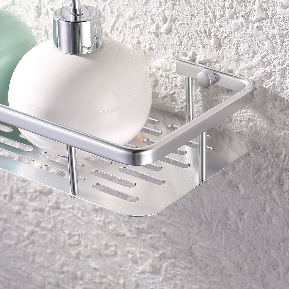 KES 12-Inch Aluminum Bathroom Shelf Wall Mounted, Silver Sand ...