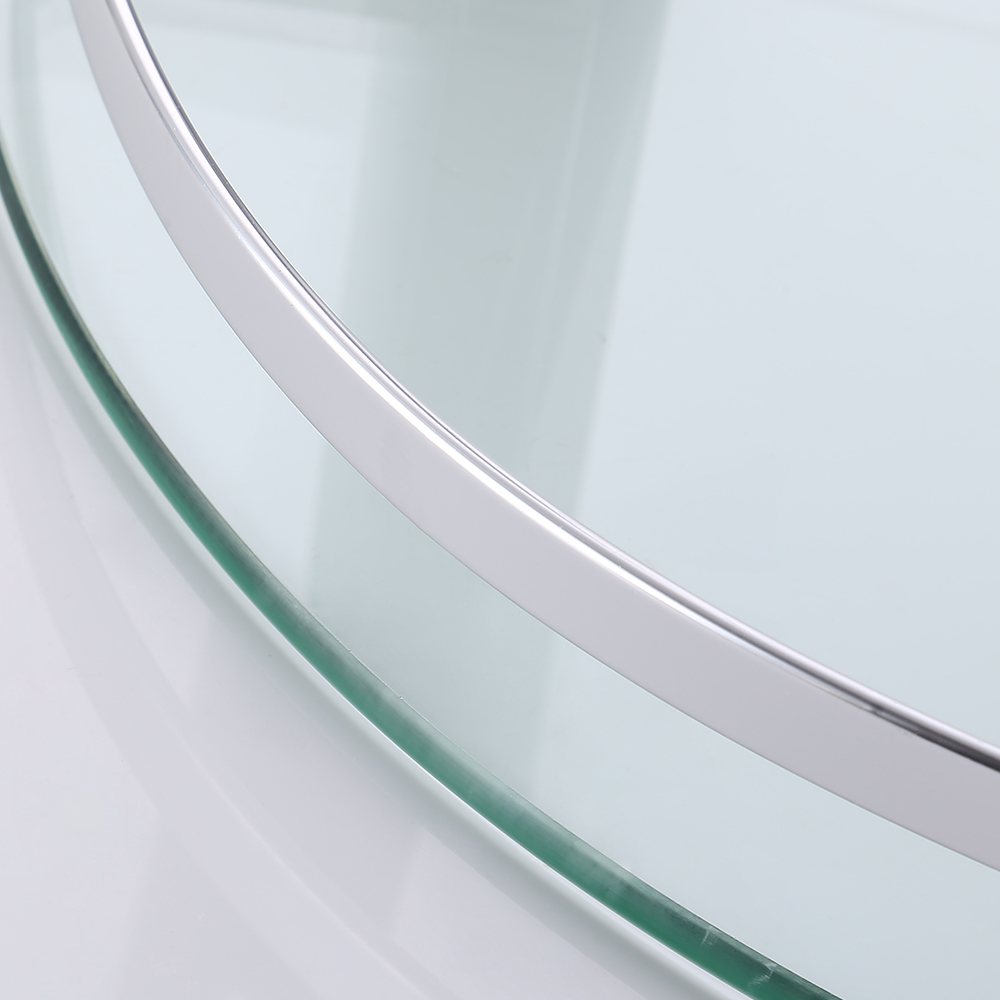 KES Glass Corner Shelf, Bathroom Shelf 2 Tier with Aluminum Rail ...