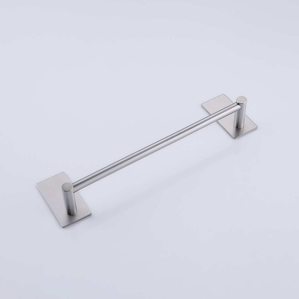 kes 3m self adhesive towel bar 12inch small bathroom kitchen hand towel hanger sticky stick on