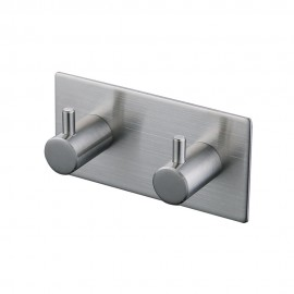 KES A7060H2 Bathroom Lavatory Self Adhesive Double Coat and Robe Hook, Brushed Finish, SUS304 Stainless Steel