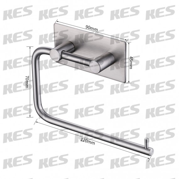 KES A7070-2 Tissue Roll Hanger Wall Mount Contemporary Style, Brushed Finish